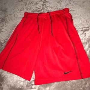 Orange and Black Nike Athletic Shorts